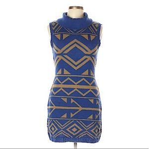NWOT MINE®️BOHO GYPSY TRIBAL KNITTED SWEATER DRESS